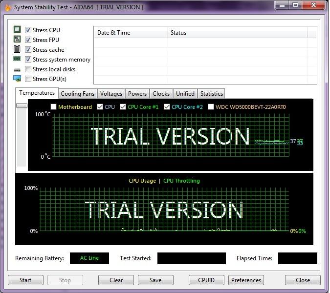 Температура Intel Core i5-480M на ноутбуке HP до замены термопасты и до прогрева стресс-тестированием