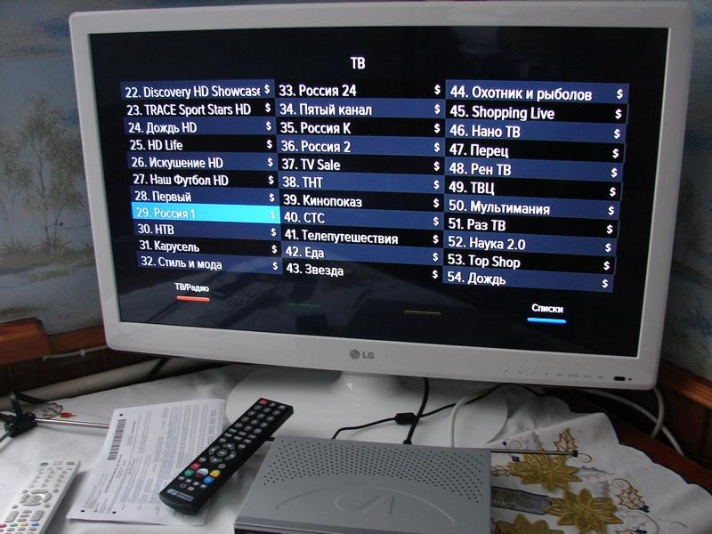 GS U510 - отображение списка каналов