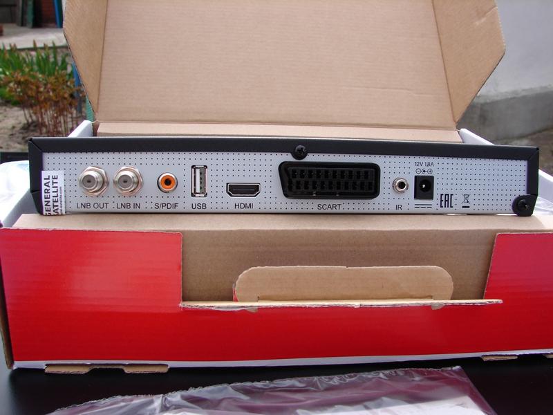 GS U510 - задняя панель приёмника, оснащение