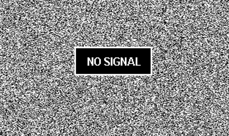 """Сообщение """"НЕТ СИГНАЛА"""". Сообщение принадлежит телевизору"""