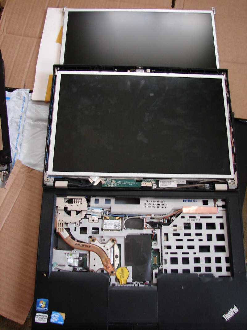 Картинки в процессе восстановления ноутбука Lenovo