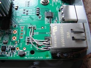 Ремонт ресивера GS_C591 - подпайка разъёма LAN и восстановление токопроводящих дорожек