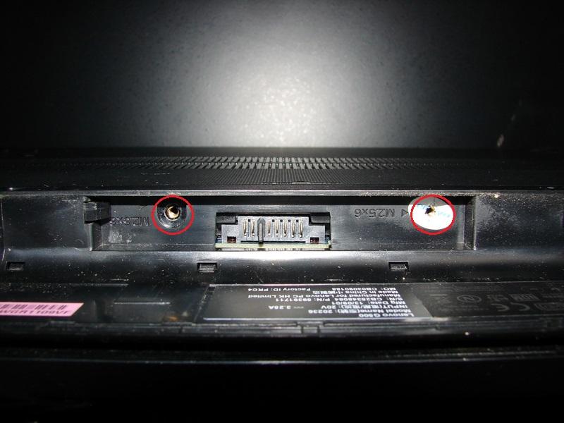 Разбираем Lenovo G500 - место расположения винтиков