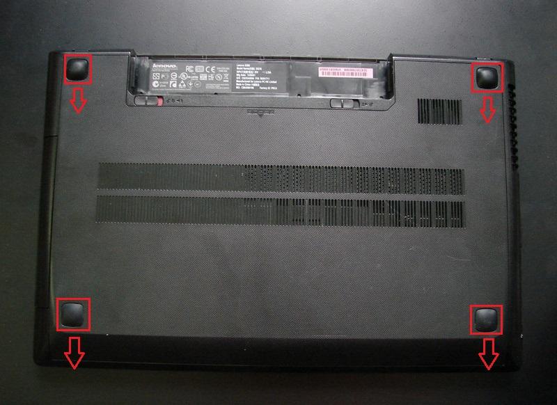 Разбираем Lenovo G500 - снимаем крышку