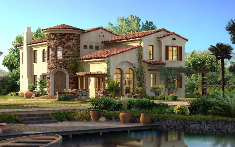 Дом в итальянскои стиле - перенести балкончик, перекрасить стены.....