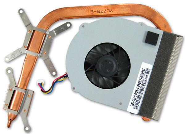 Применение системы охлаждения всего с одной тепловой трубкой - возможный фактор перегрева элементов на плате ноутбука