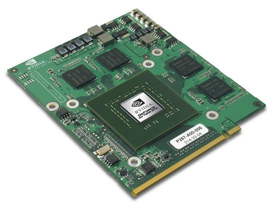 Видеокарта для ноутбука, вставляемая в слот - не частое решение. Используется в качественных дорогих ноутбуках. Применение слота обеспечивает возможность замены видеокарты.