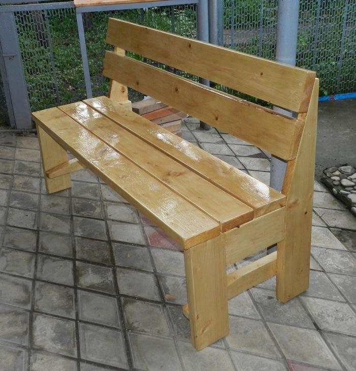 Как сделать скамейки на даче своими руками фото 867