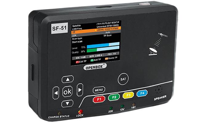 Один из неплохих вариантов оборудования для настройки Триколор тв это OpenBox SF-51. Прибор с поддержкой mpeg-4 и приёмом DVB-S2