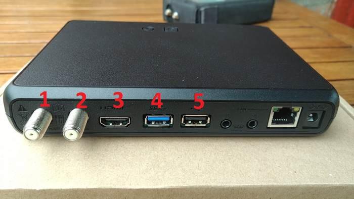 GS B623L - задняя панель ресивера оснащена по современному стандарту. Есть всё необходимое - ни добавить, ни убавить